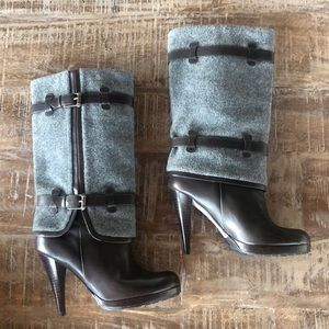 NWT Cole Haan Nike Air Kennedy Brown&Gray boots 8